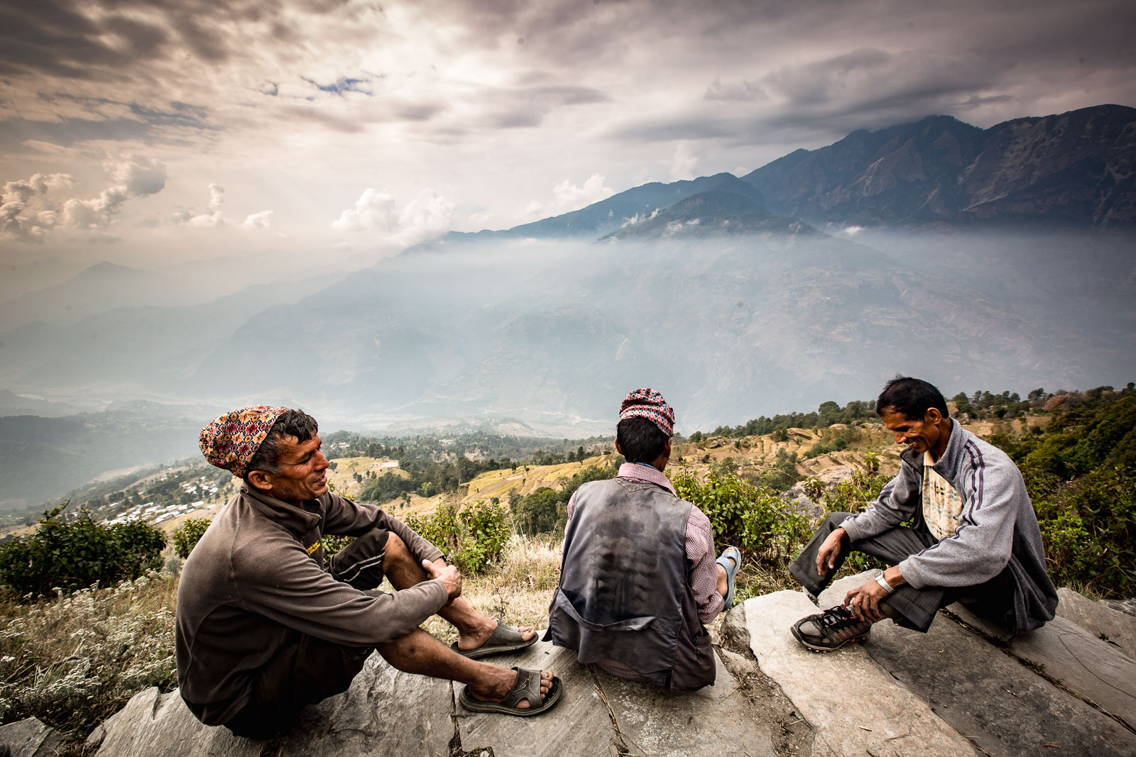 Our porters taking a well-earned rest