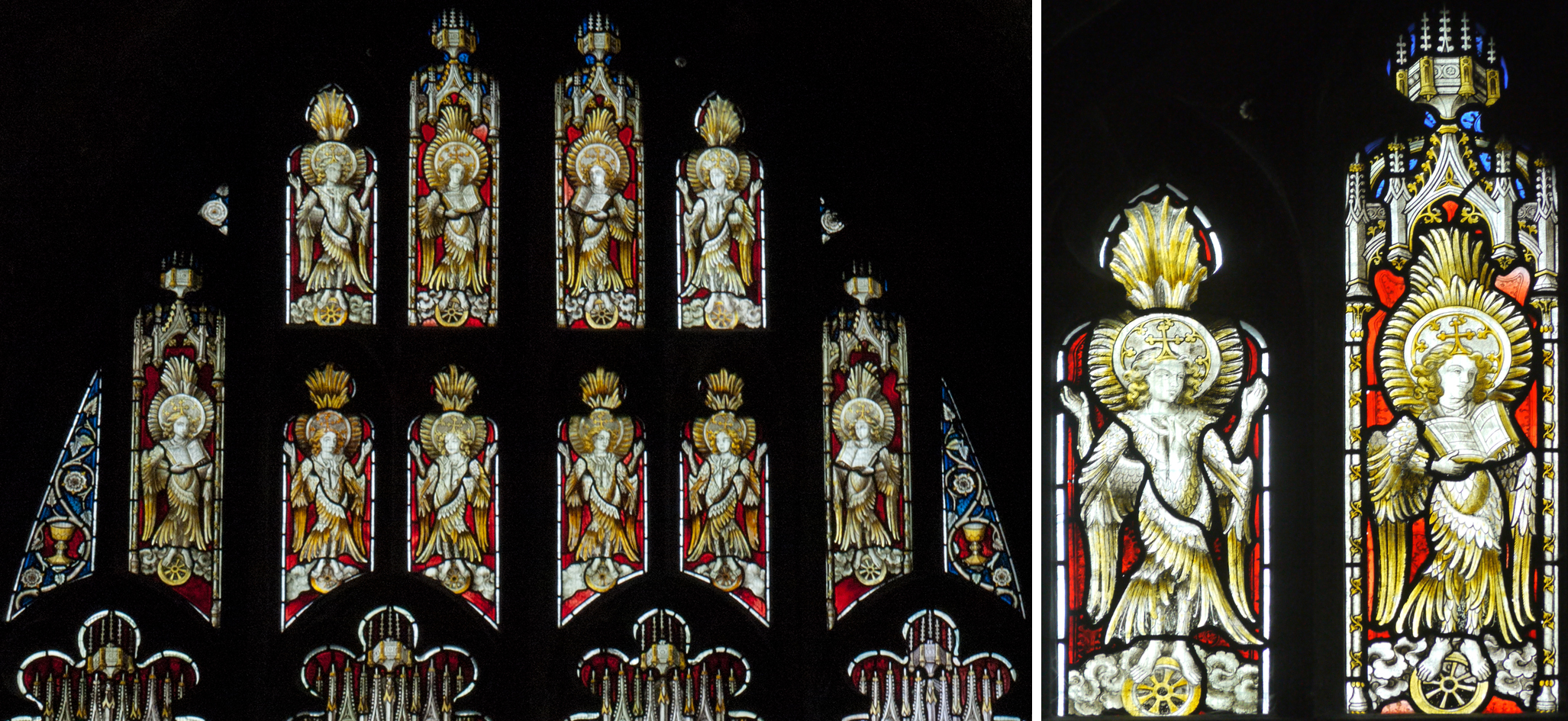 North aisle, west window - Victorian glass by Hardman                                                      Details