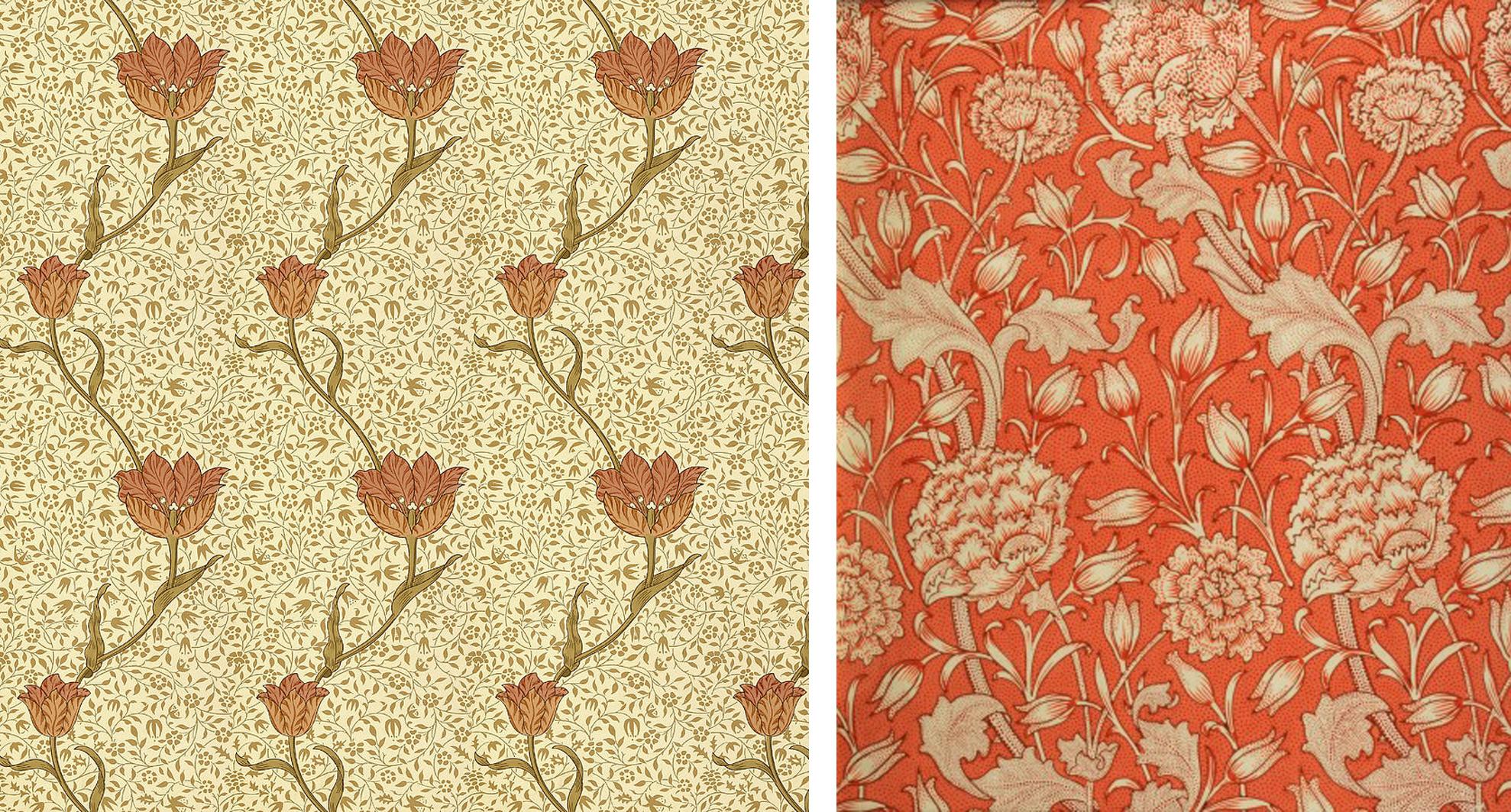 William Morris : GardenTulip                                      William Morris : Wild Tulip