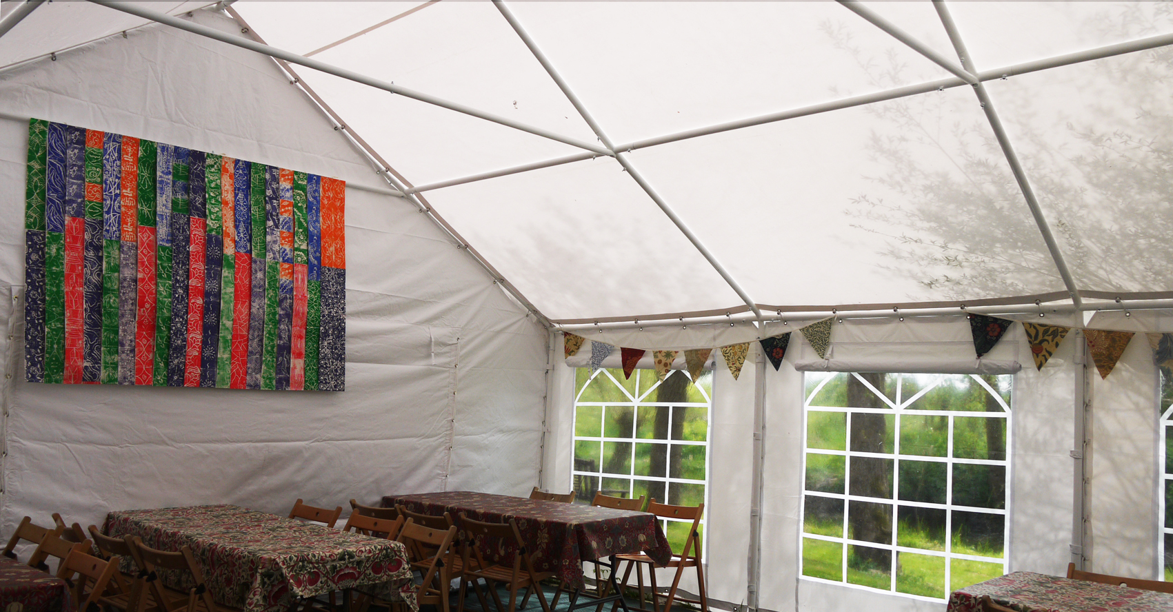 After - inside the new marquee