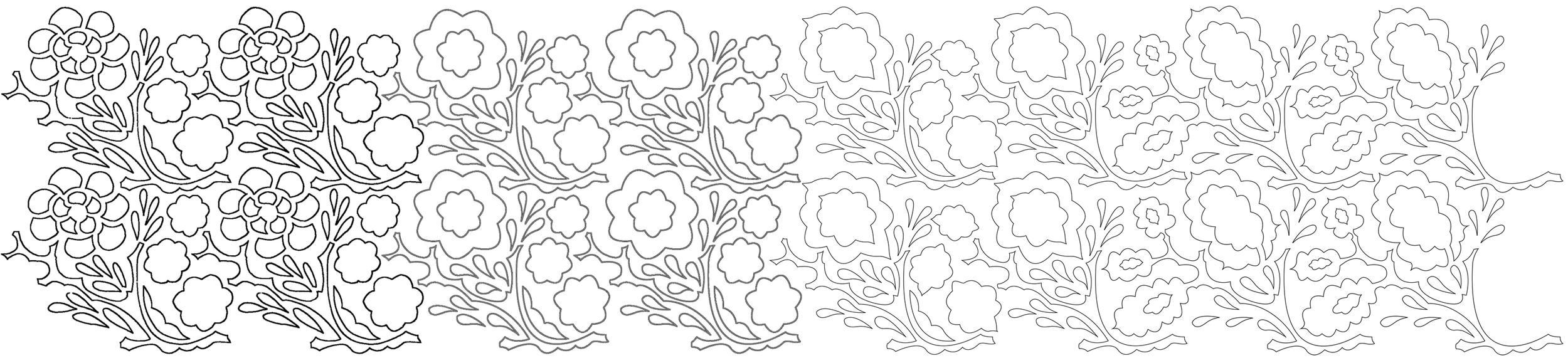 Pattern versions 2, 3, 4 & 5