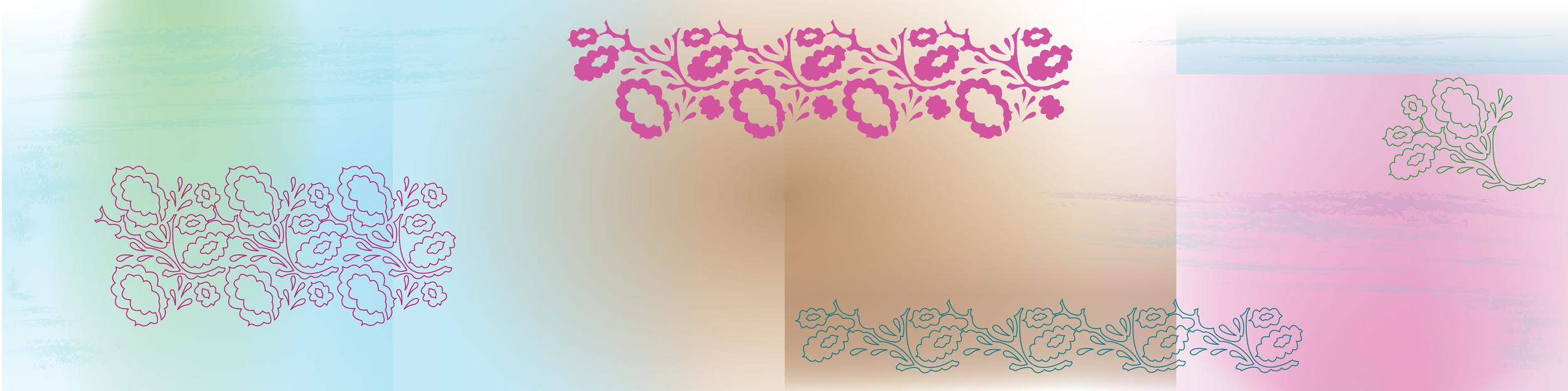 Design for 4 ceiling tiles for Yeovil Hospital, SCBU counselling room