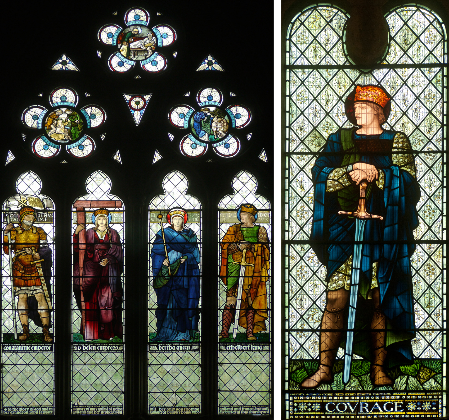 West window,St. Helen's Church, Welton with Melton, Yorkshire. EBJ          Malmesbury Abbey, 1901     Click to enlarge