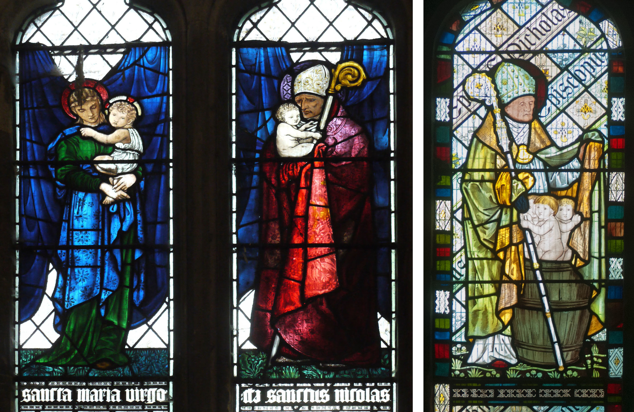 The Virgin Mary and St. Nicholas from Welton Church, EBJ  : An earlier version of St. Nicholas from Beaudesert