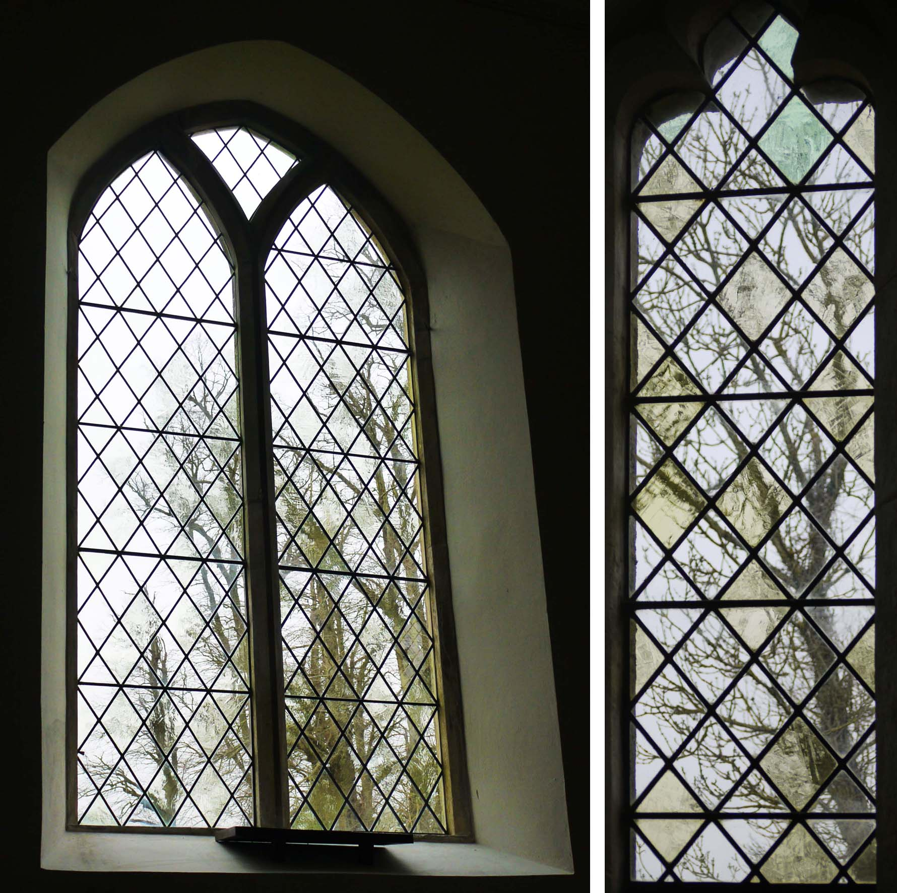 Pale and textured glass at Rushall