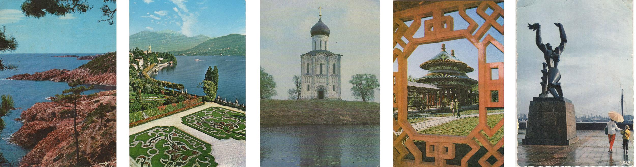Sent from: L'Esterel, Lake Como, Vladimir, Beijing, Rotterdam