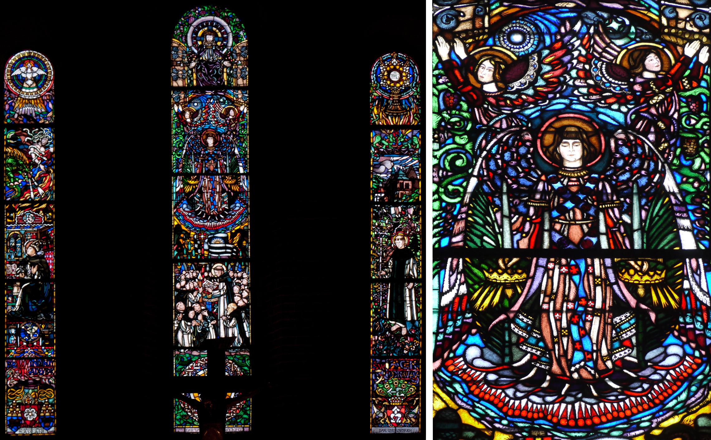 St. Jacobus,Sandomierz, chancel windows by Frycz, made in Krakow by the firm of Gabriel Zelenski in 1914.