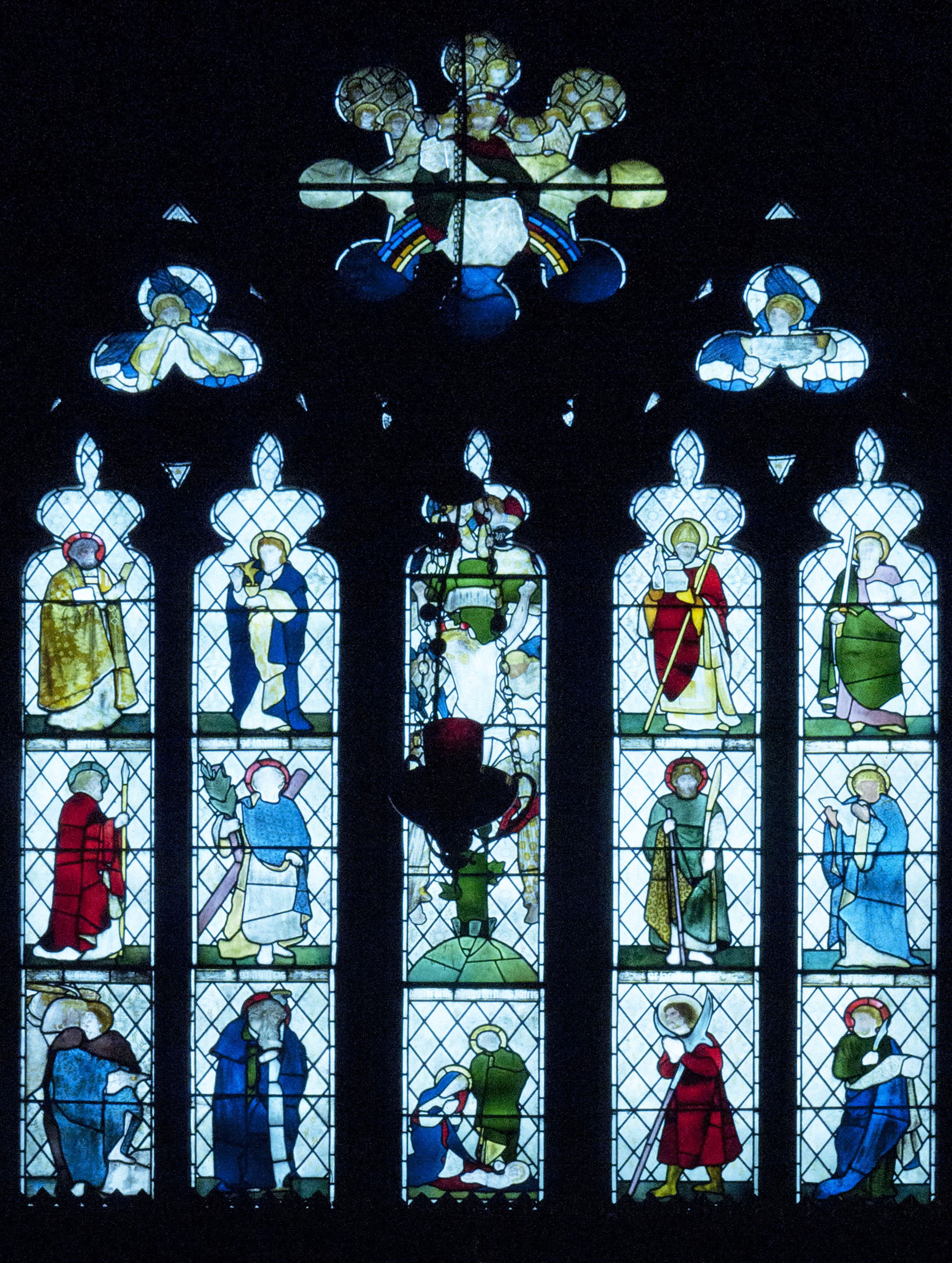 East Window by Morris, Marshall, Faulkner & Co. 1870, St. Martin's on Brabyn's Brow, Low Marple