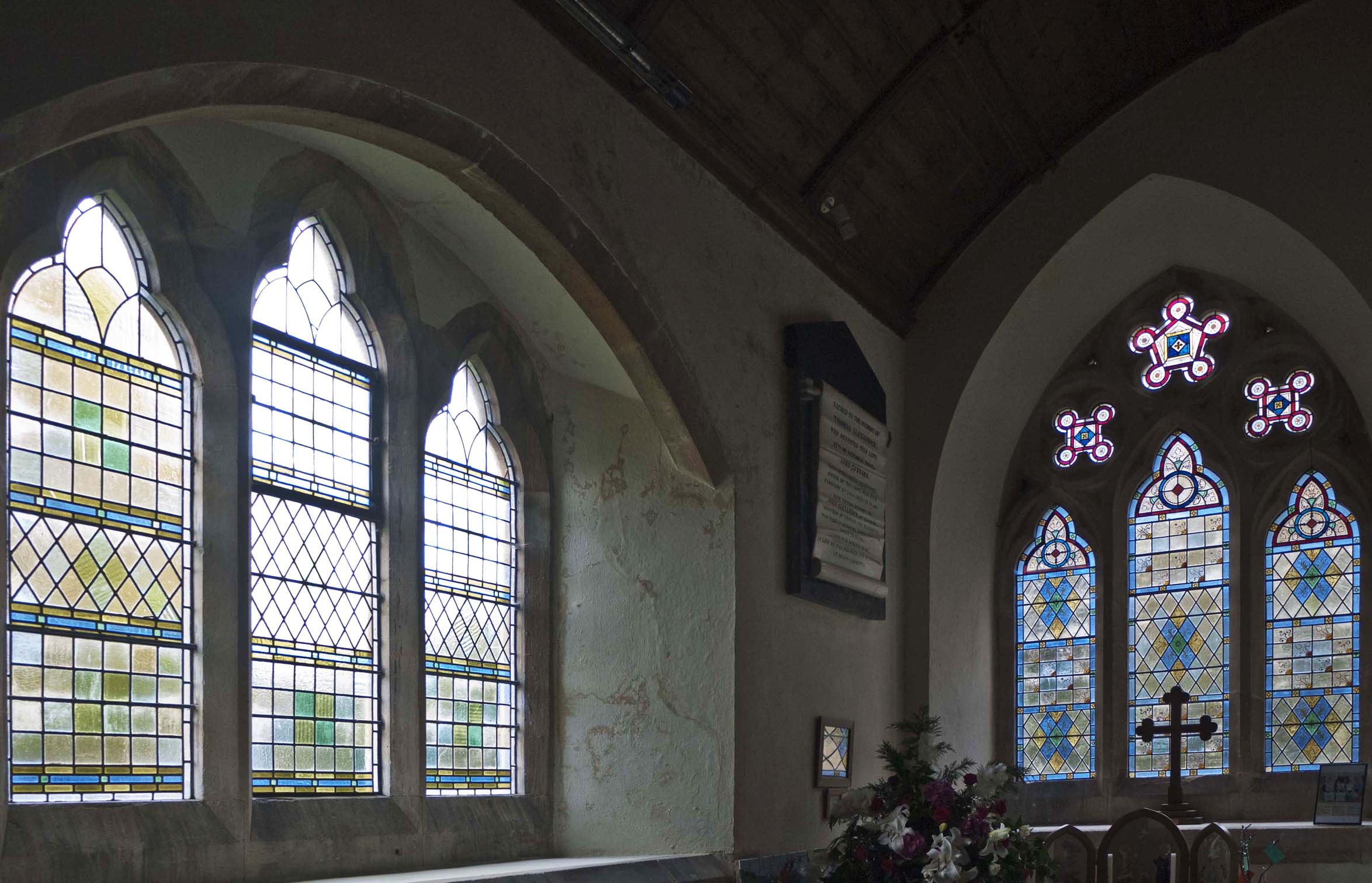 St Mary, Upavon, Wiltshire, above and below