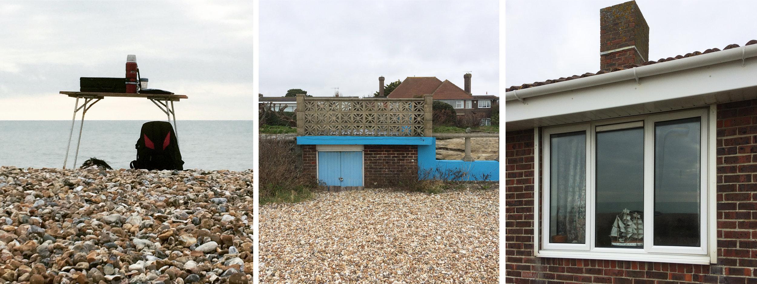 Pagham: seaside coffee break, seaside architecture, seaside window.