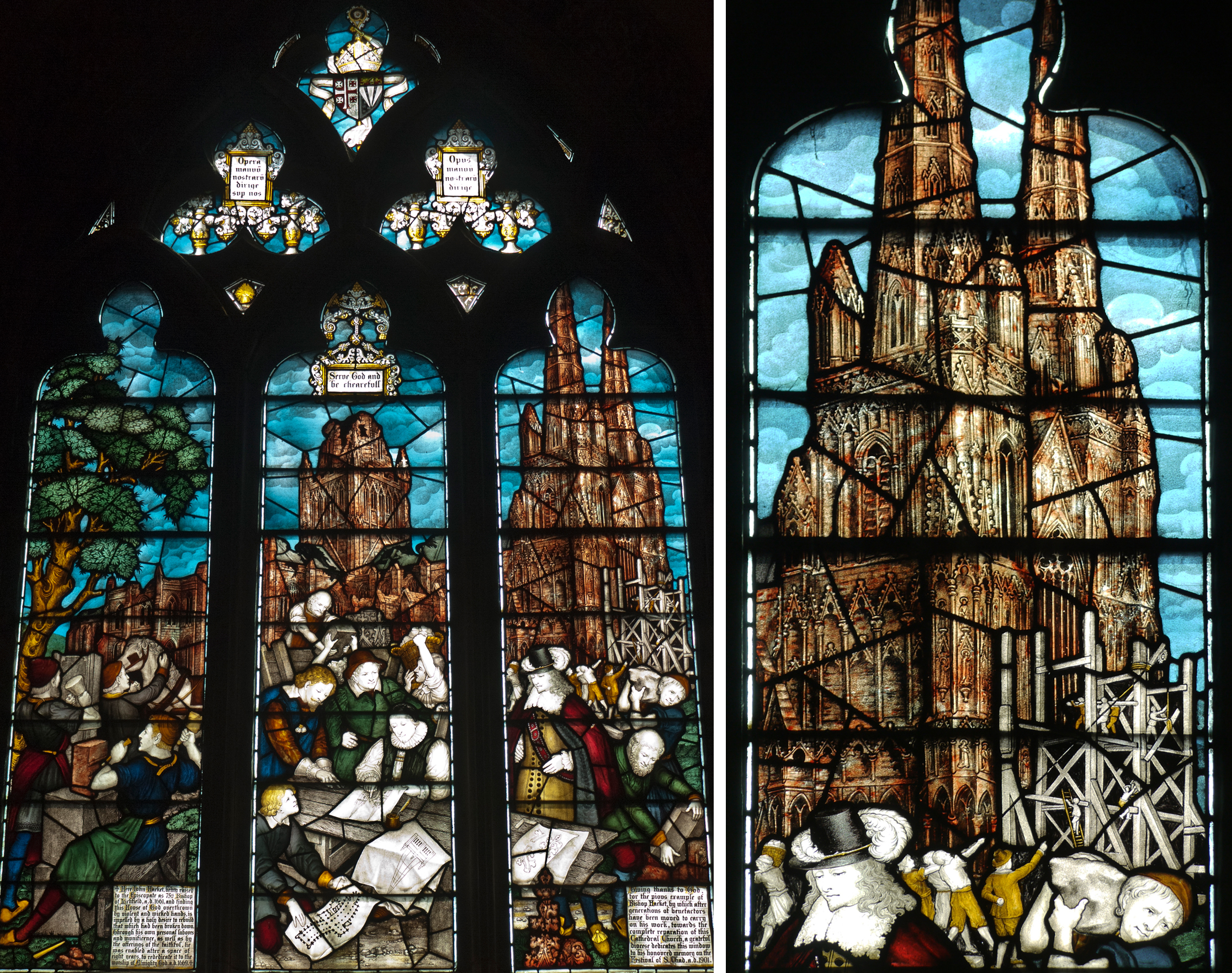 Lichfield Cathedral in Lichfield Cathedral, The Hacket Window by Charles Eamer Kempe 1901