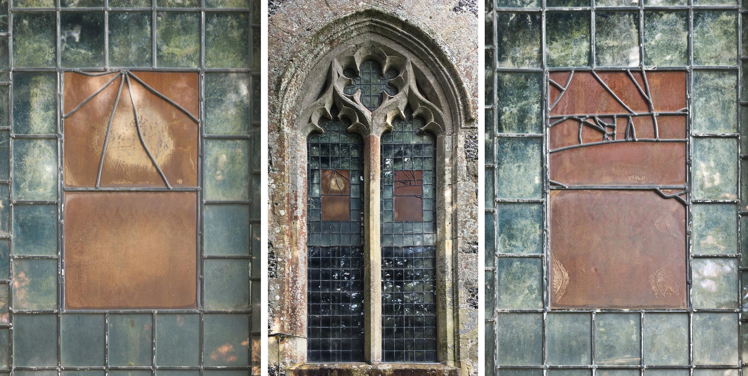 West facing window, All Saints, Fittleton