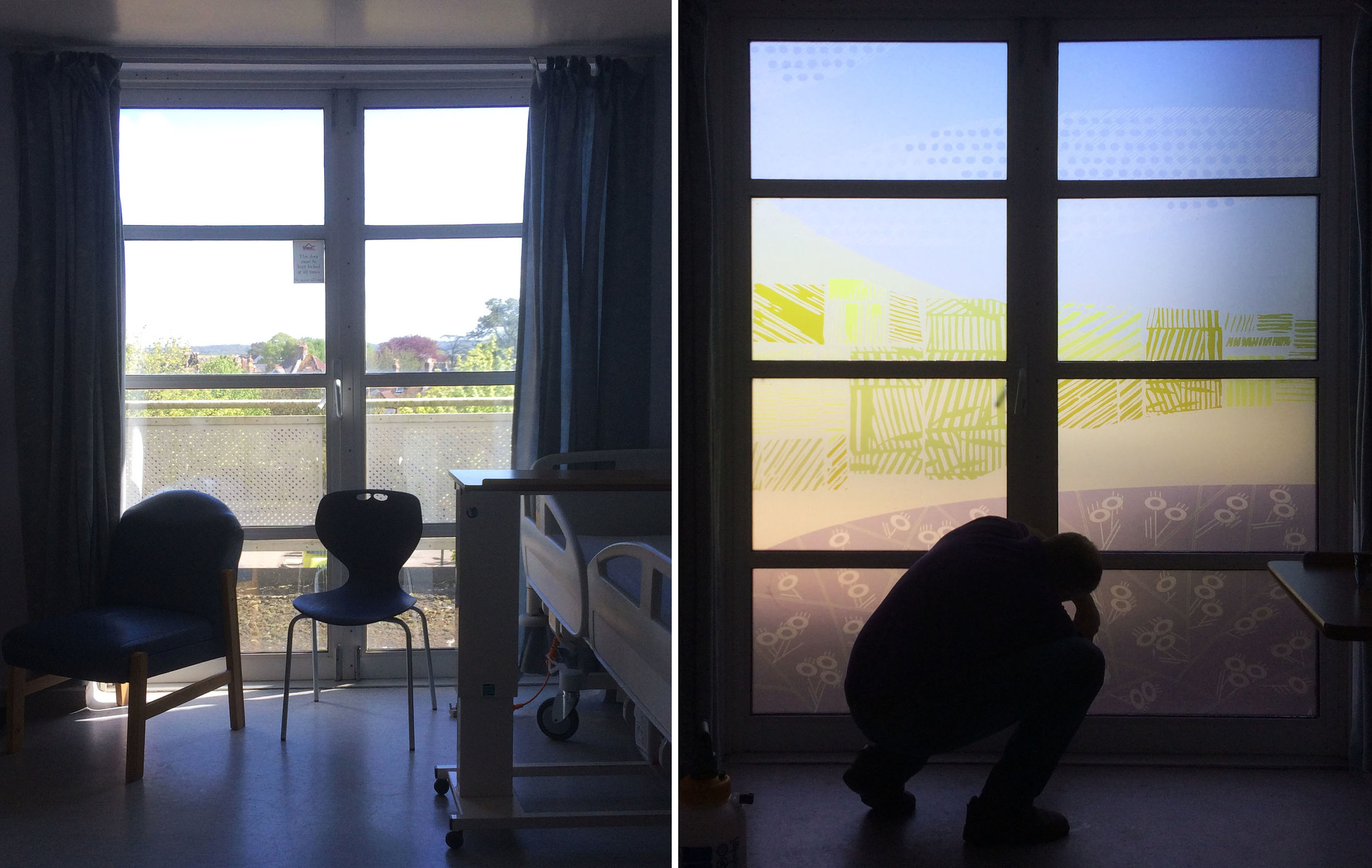 Room 31 - before and during installation