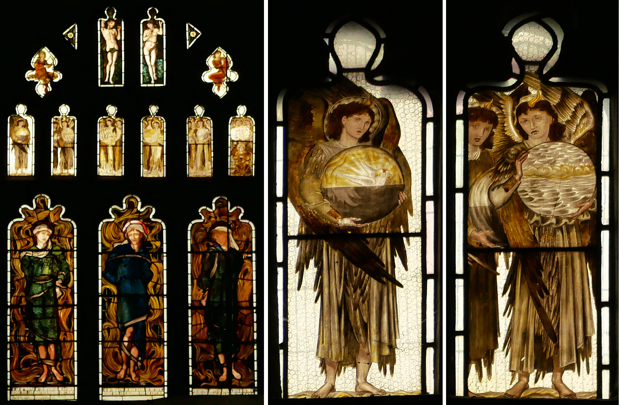 West window, All Saints, Middleton Cheney, Edward Burne-Jones 1870.
