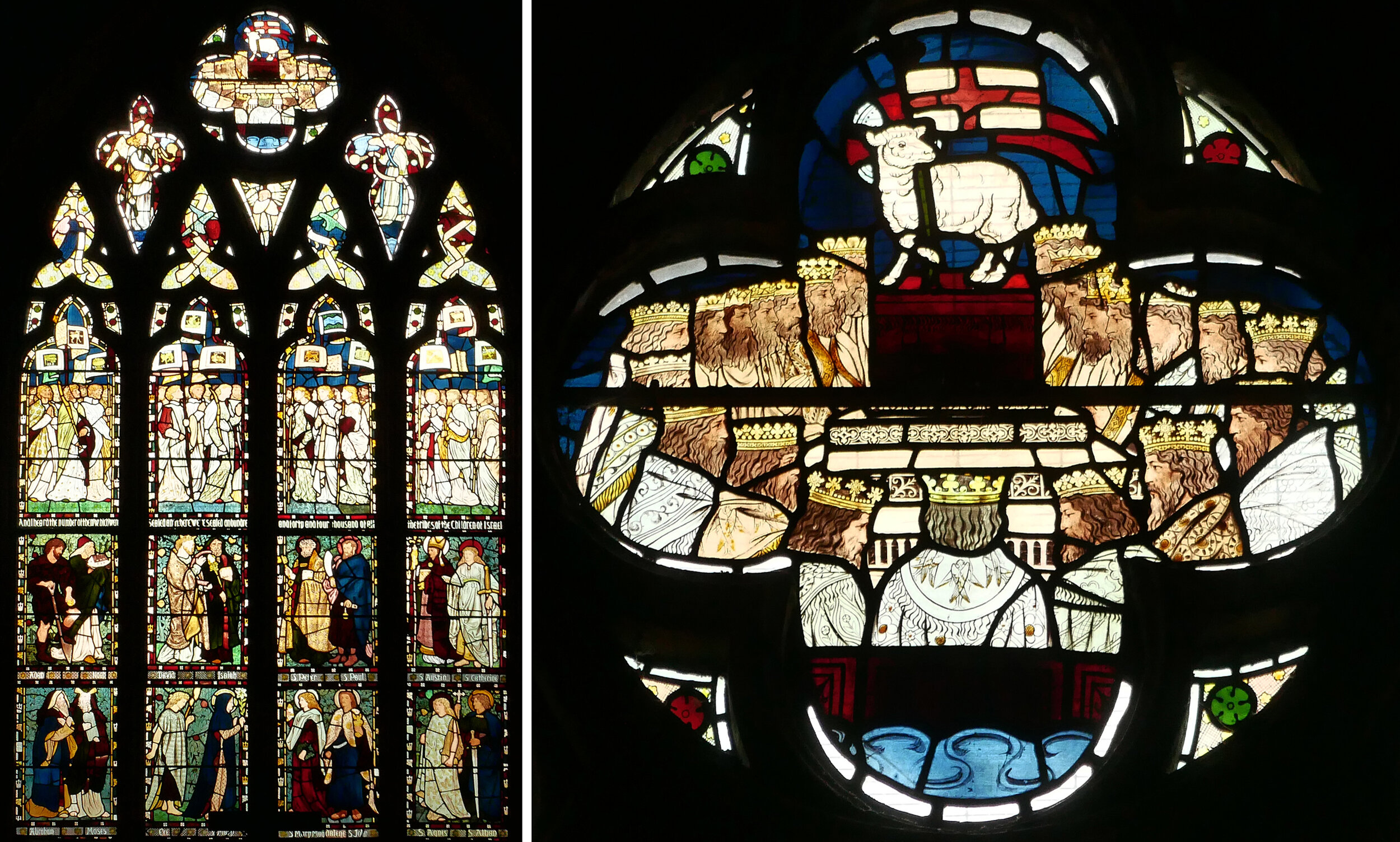 East window, All Saints, Middleton Cheney by Morris, Marshall, Faulkner & Co. 1865.
