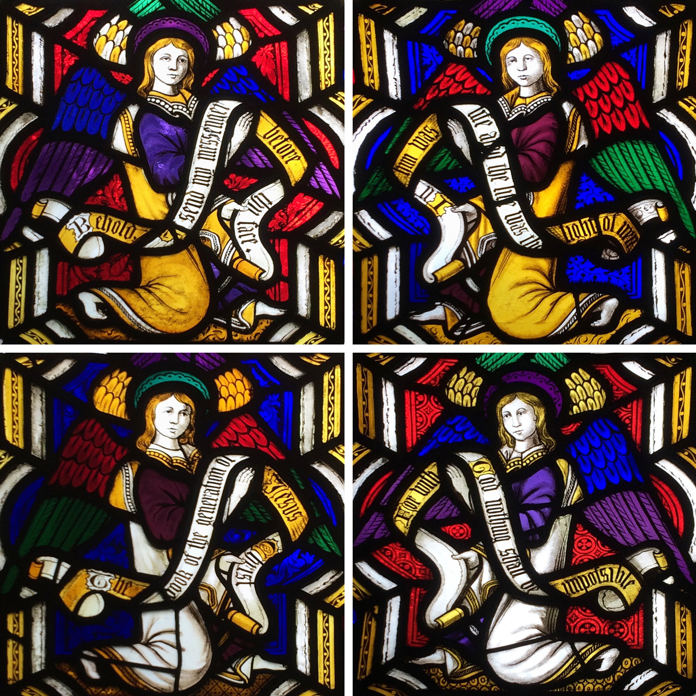 Angels from the bottom of the Barford window