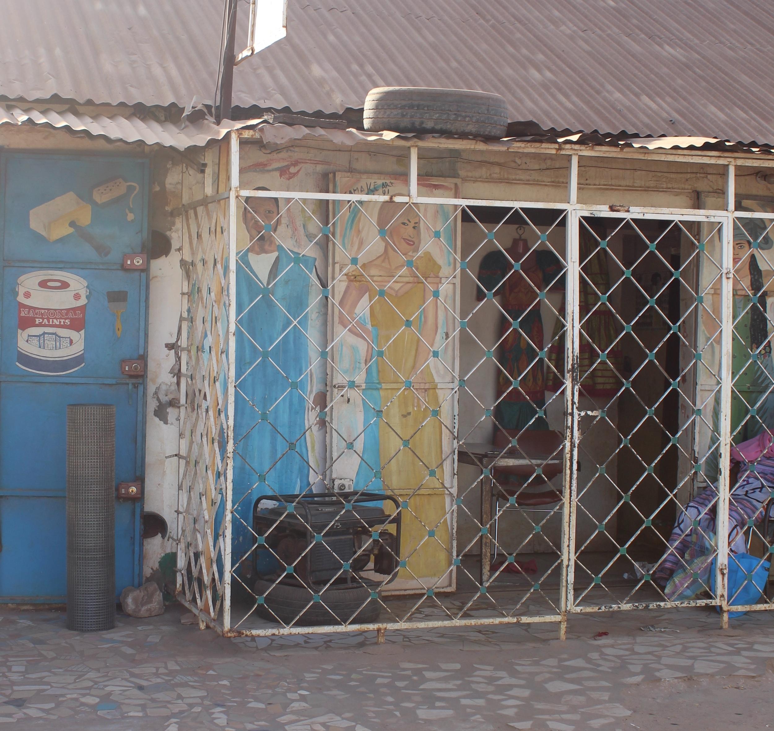 Local boutique in Serrekunda.