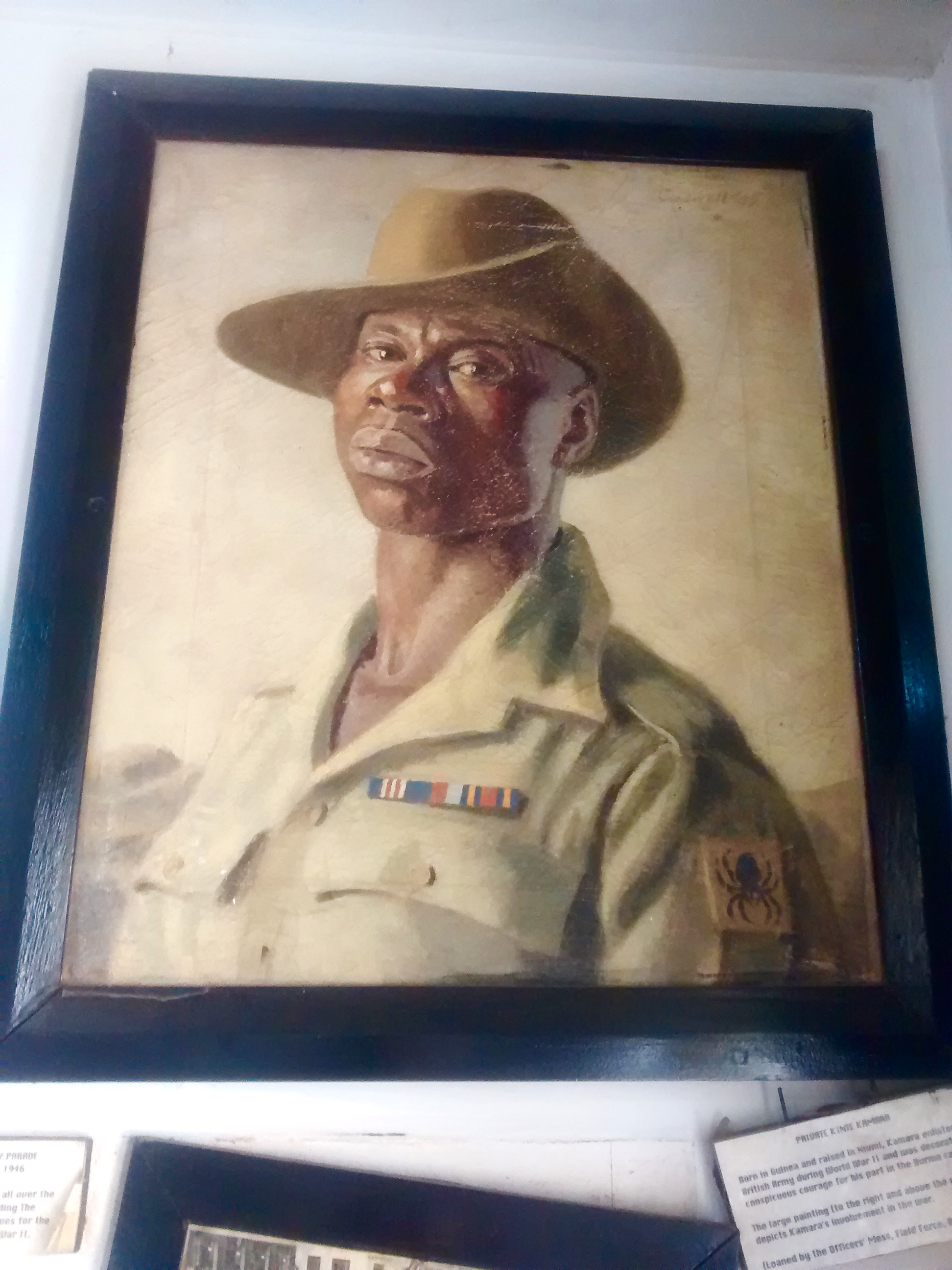 I love this proud photograph of Private Kinte Kamara who served in the British Army in WW2.