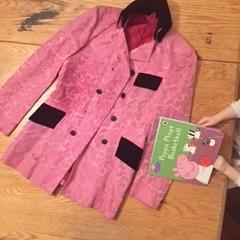 Pink brocade and black velvet 60's jacket of wonder. Thanks Dad!