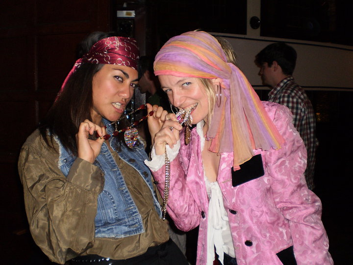 Pascale and her friend, Beatriz, shivering their respective timbers, Jacket of Wonder worn with pride!