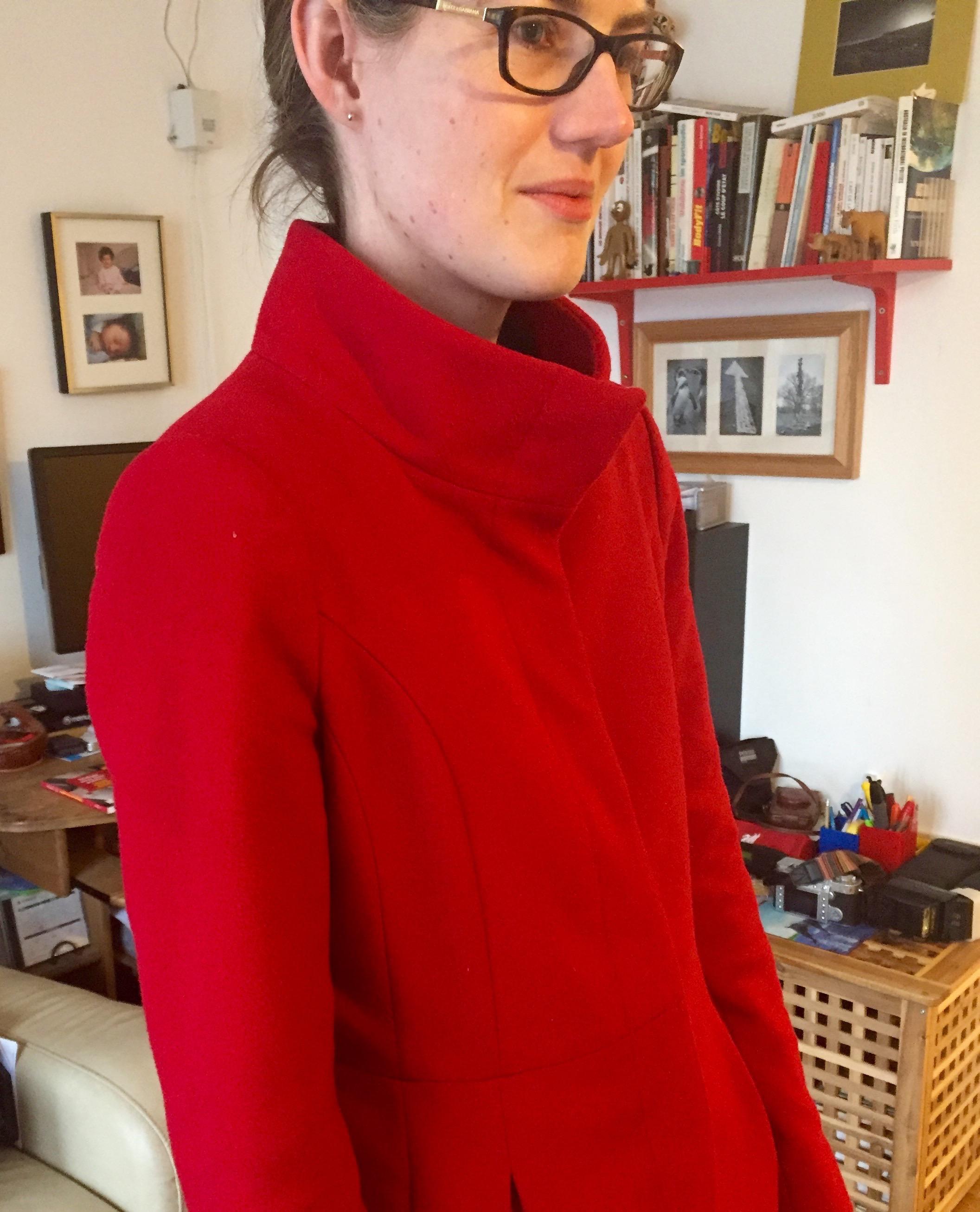 High collar to keep neck warm?Check.