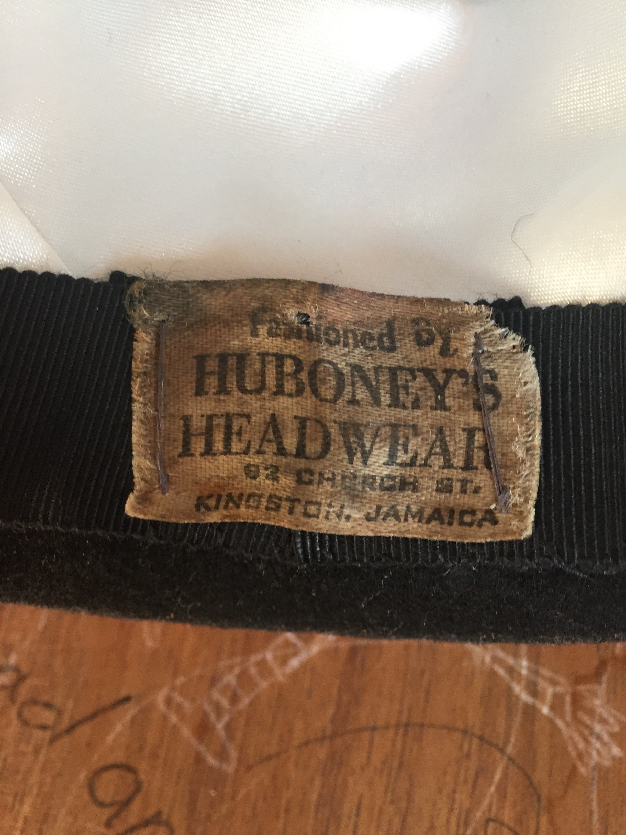 Huboneys Headgear. 92 Church St. Kingston. Jamaica. Still there, I am led to believe.