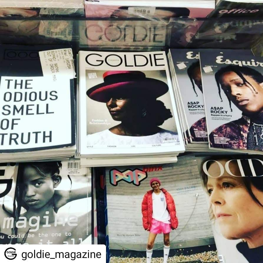 Made the cover of Goldie Magazine Autumn issue - the glossy celebrating the over 40s. Cover photo by Mike Marchant. October 2018.