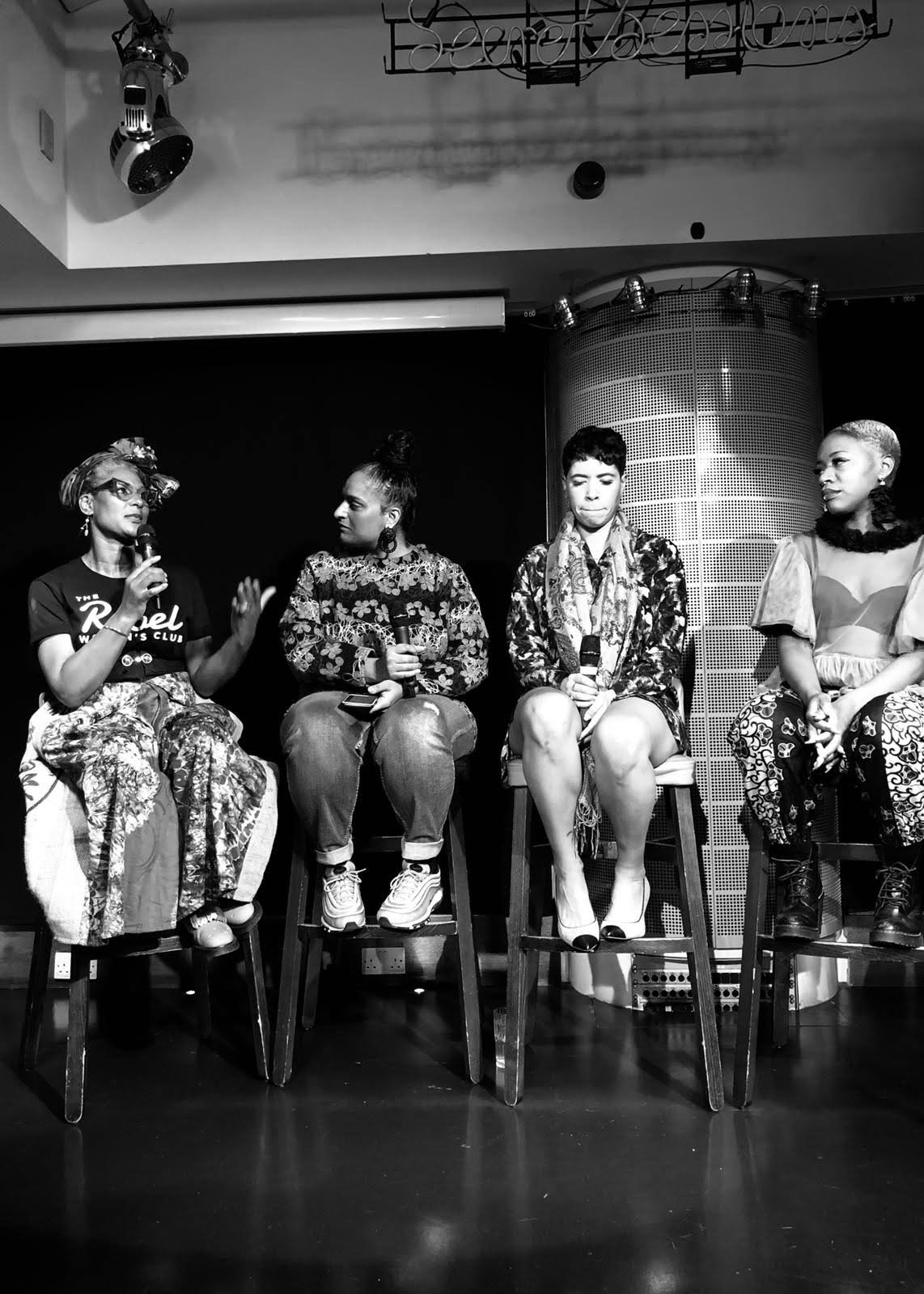 I was invited by The Fika Session to be a panelist with some inspirational women to celebrate Black History Month. Pictured here with writer and facilitator Arfa Butt, DJ and fitness guru Melody Kane and Singer songwriter Kimberley Nichole. Photo by Eva Palazzetti. October 2018