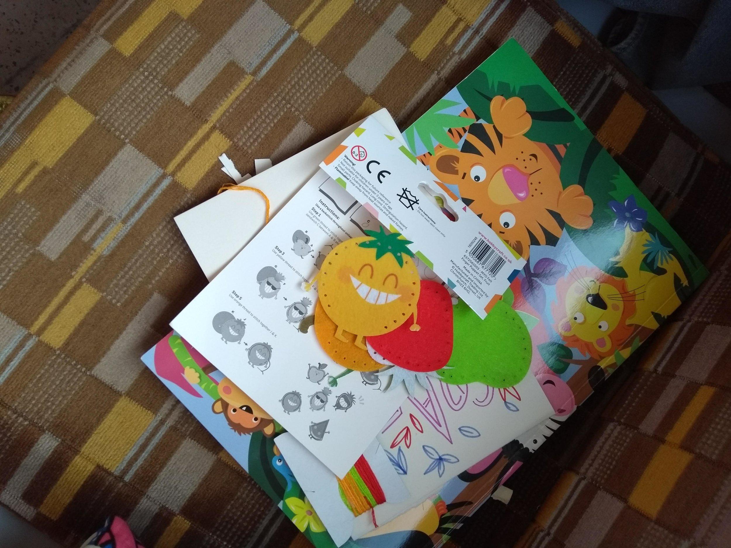 Fruity finger puppet kits from Hobbycraft giving us LIFE!