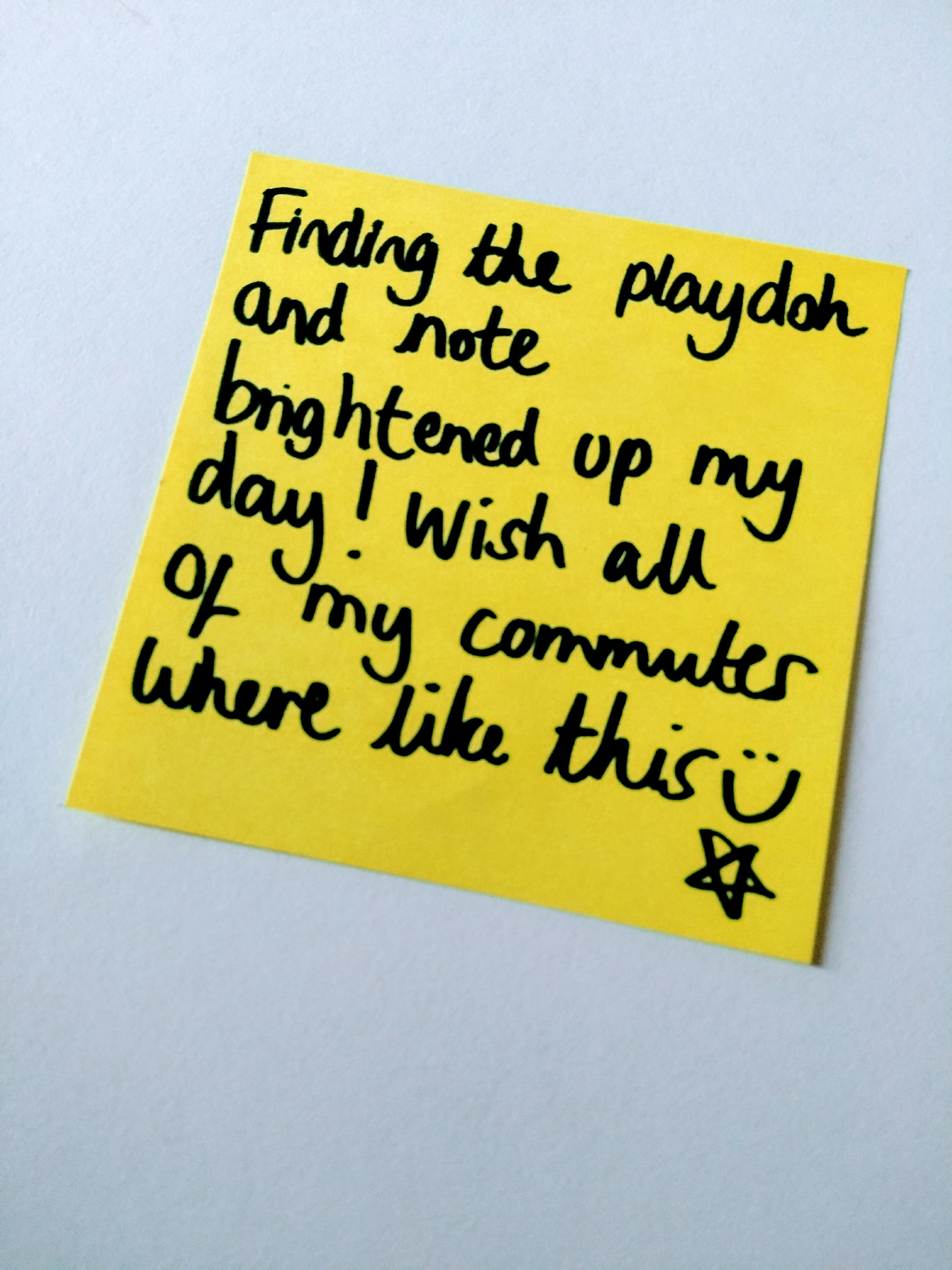 A lovely note from a lovely commuter.