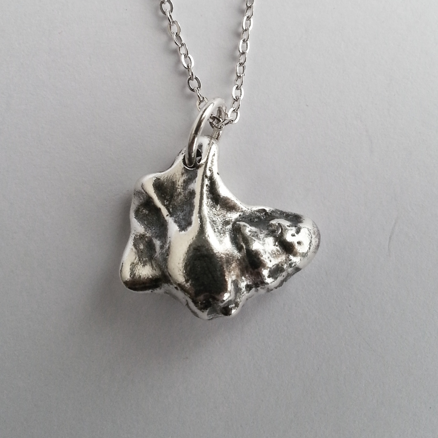 Unique Organic Oddity, Solid Sterling Silver Seashell Necklace, Handcrafted Original Pendant