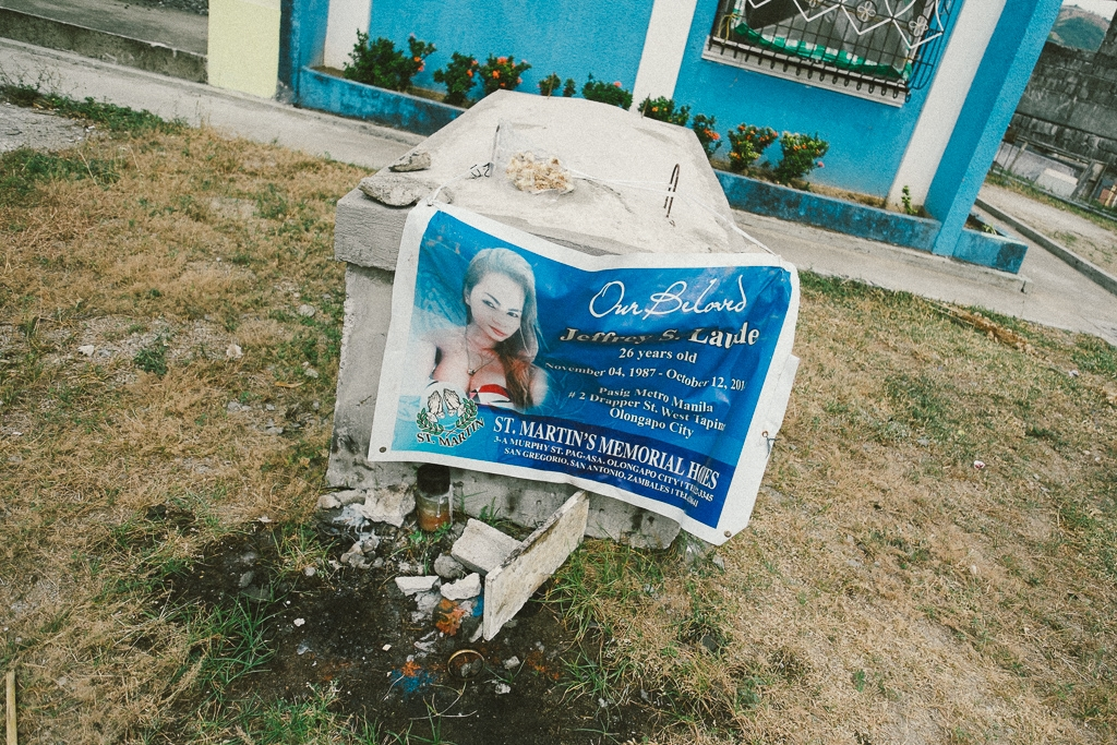 Jennifer Laude's temporary grave in case her body needs to be exhumed during her tiral.