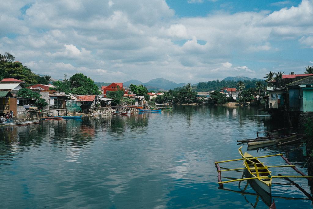 The river that borders Jennifer Laude's West Tapinac neighborhood.