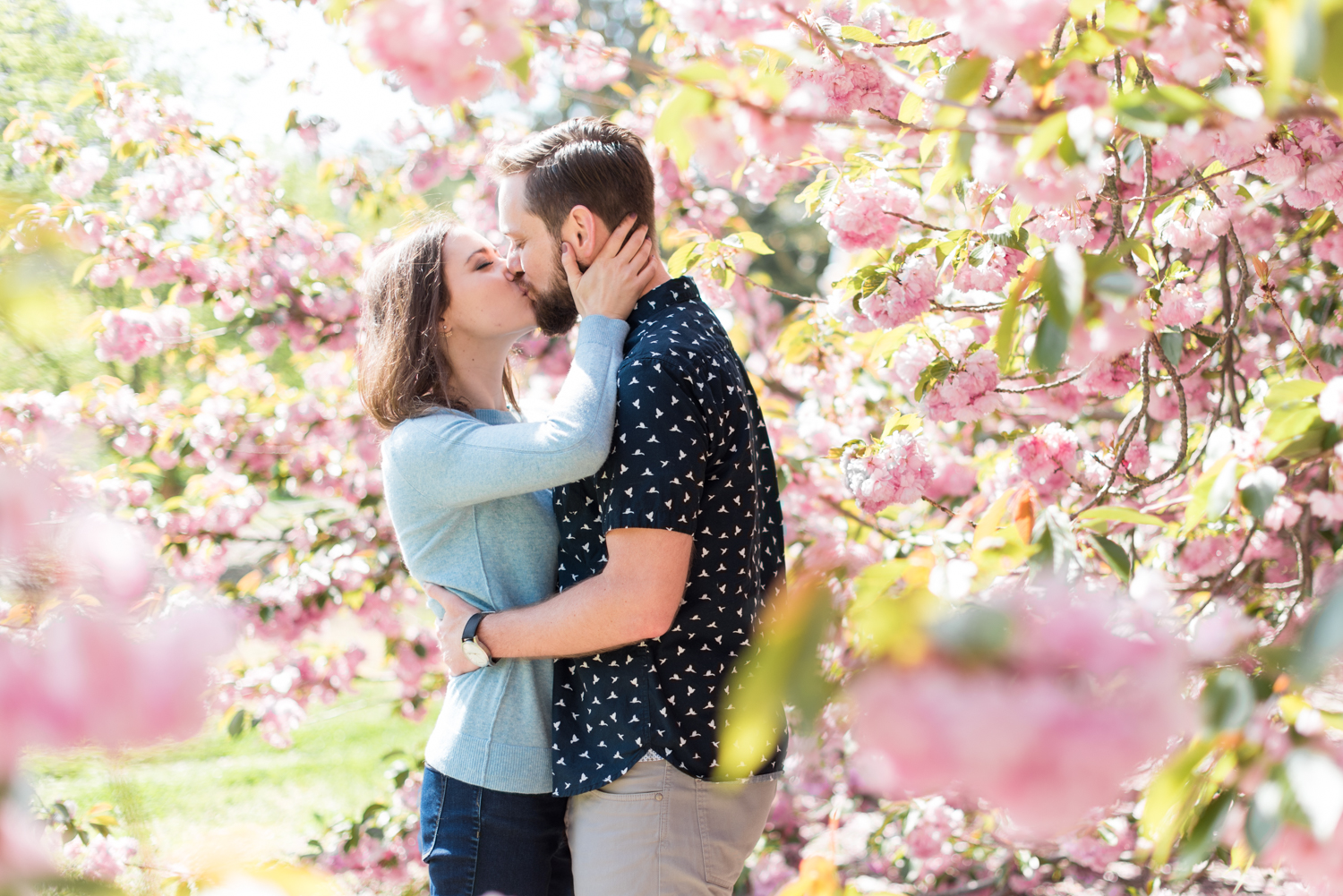 Cherry Blossom Engagement Session at Norfolk Botanical Garden-114.jpg