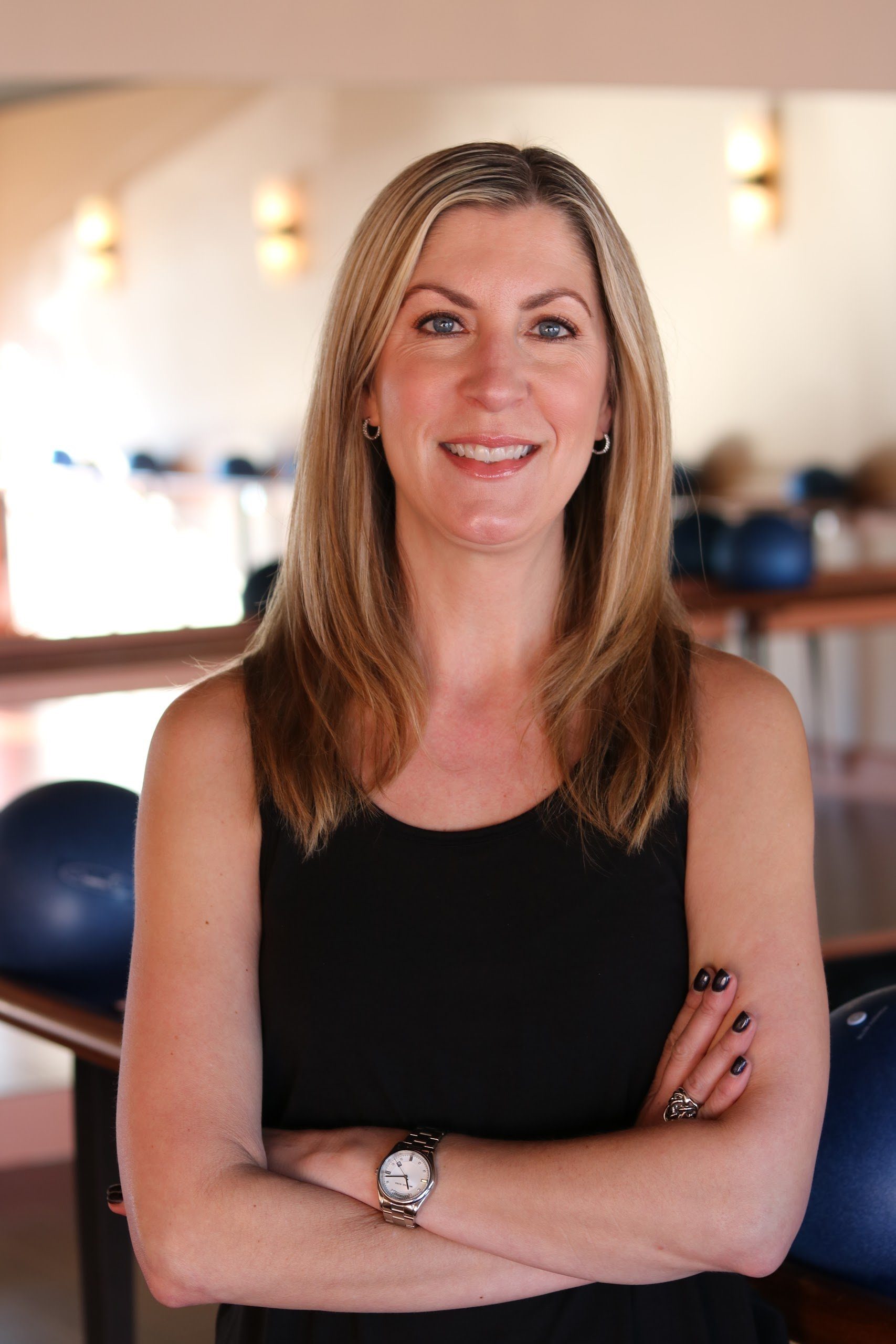 Cindi Horkey // Instructor  Outside the studio, Cindi enjoys reading, biking (both outdoor and indoor spinning), hiking and golfing with her husband Jim. They have two cats, Scout and Archie (he's a big one – 20 lbs!)
