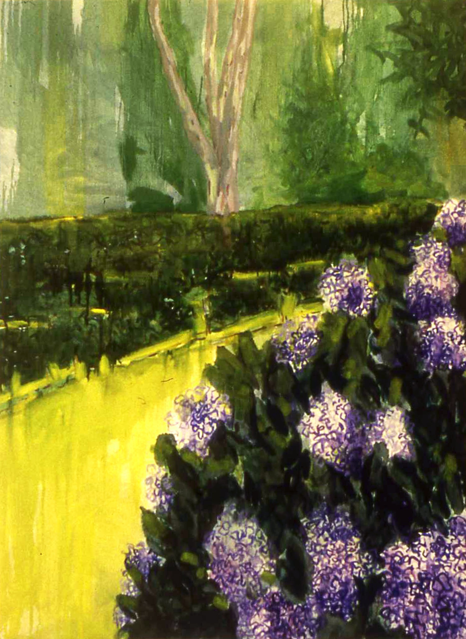 "SOUTH HAMPTON HYDRANGEA   36"" x 48"""