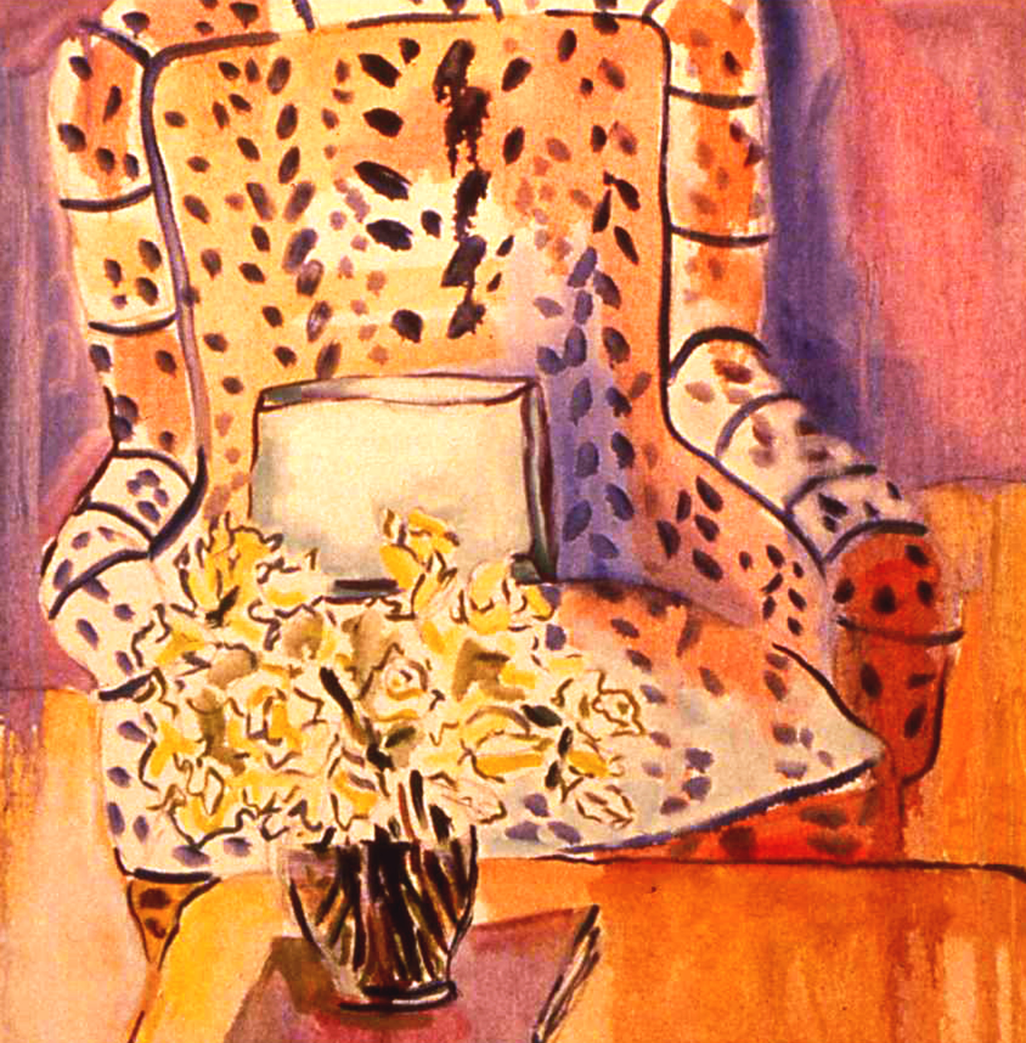 "LEOPARD CHAIR    20"" x 20"""