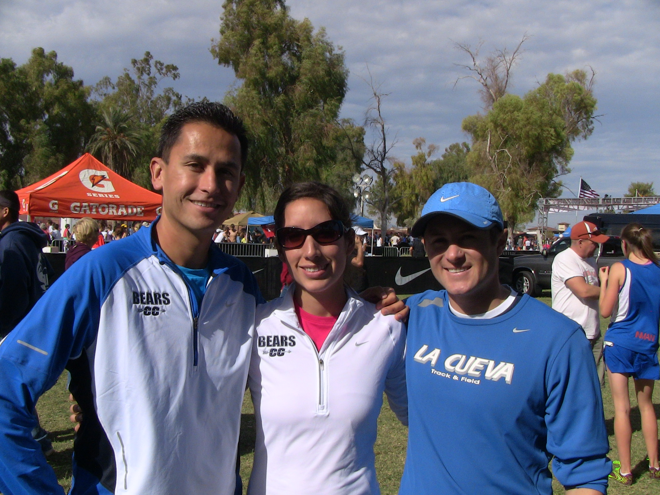 Nick Martinez, Jackie Gallegos, and Chris Rogers at NXN Regionals - 2010