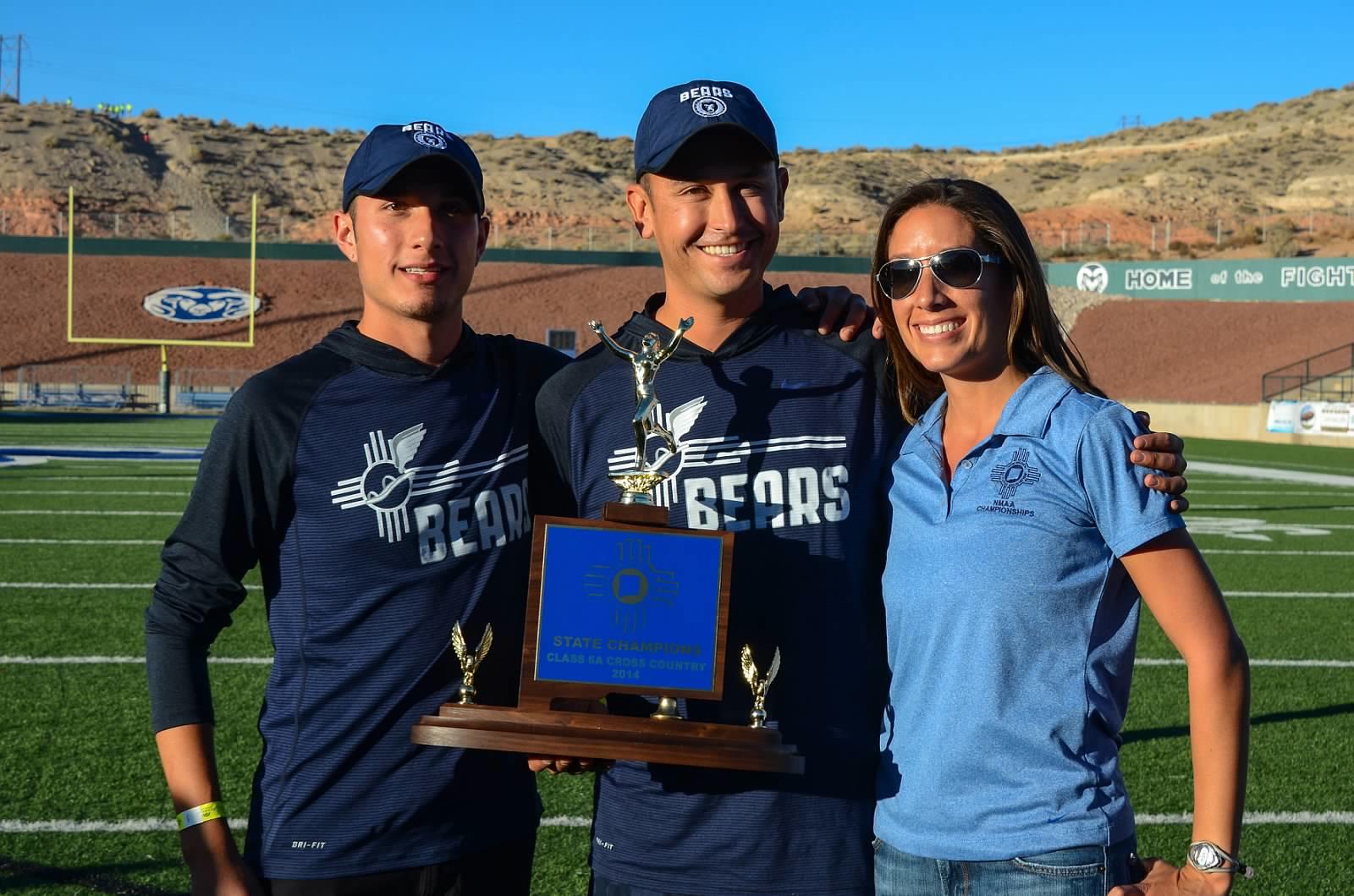 Matt Gallegos, Nick Martinez, Jackie Martinez - 2014 XC State Championships