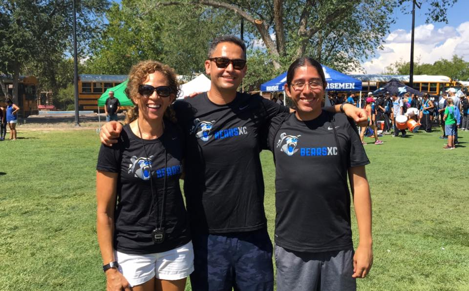 2016 Bears XC Coaching Staff at the UNM Lobo Invite