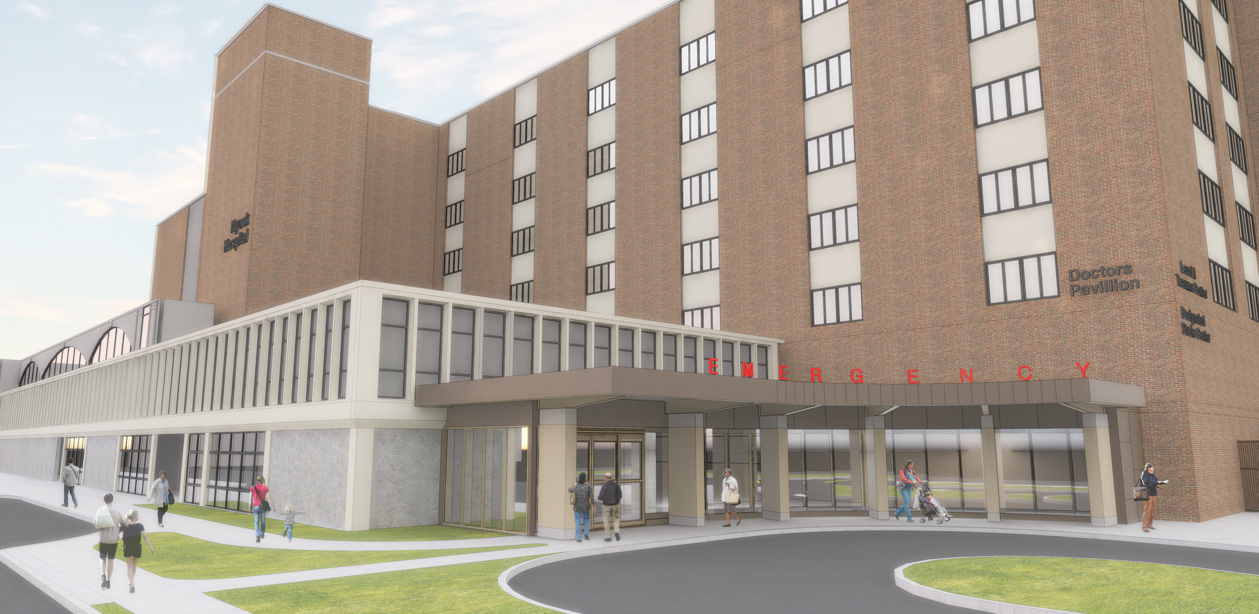 Rendering of Nyack ED  currently being constructed in Nyack, New York