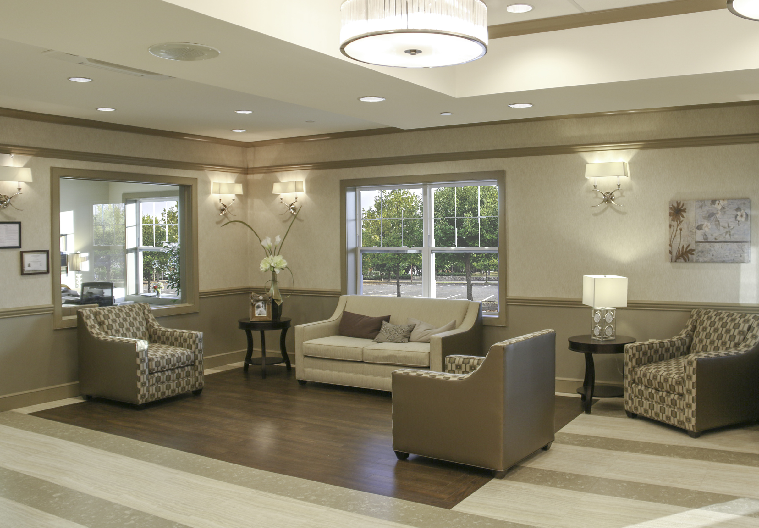 Family  Lobby  at CareOne Somerset Assisted Living Facility