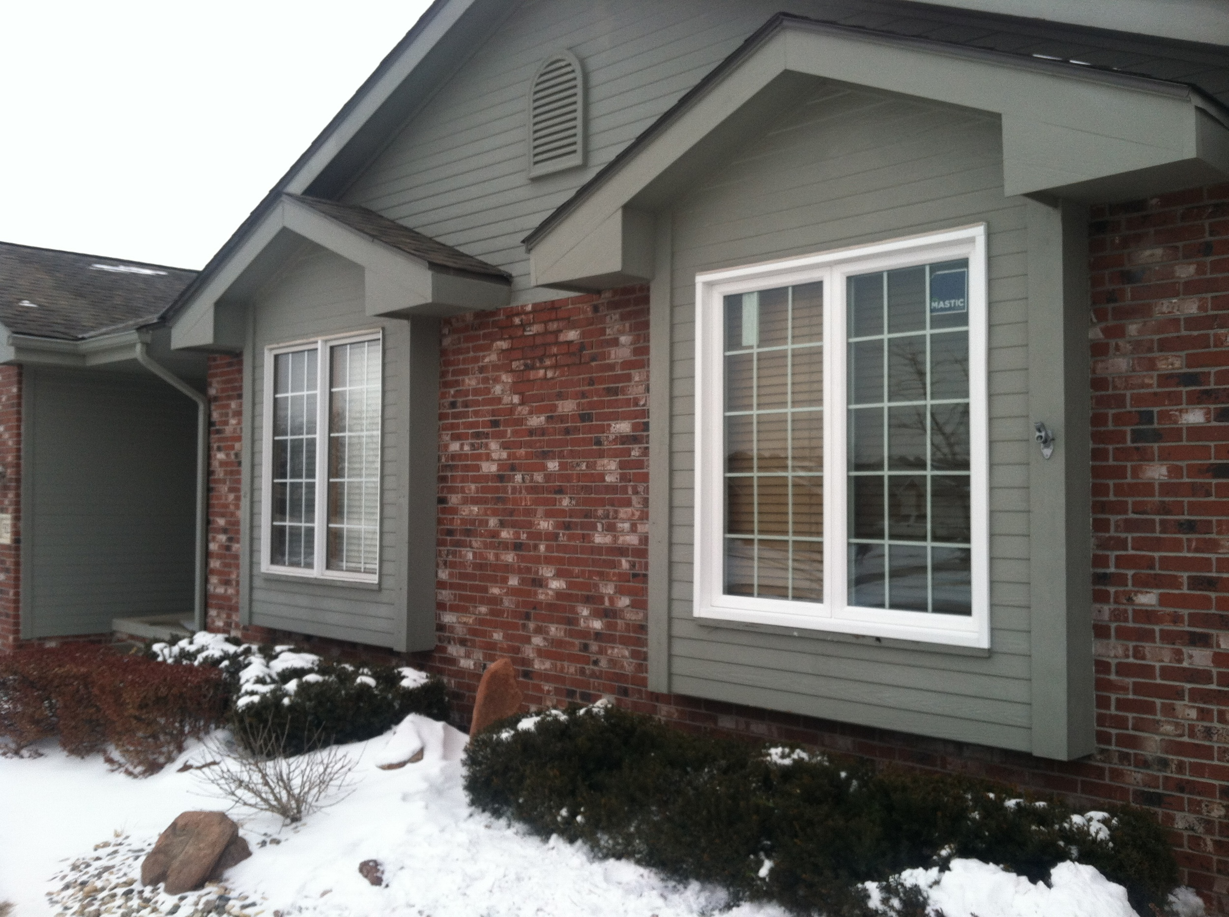 Window Repair &Window Replacement Services. Pictured is a new window (right) and the old design (left). -