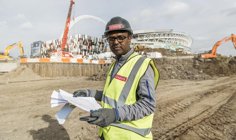 Site works at Wembley Park