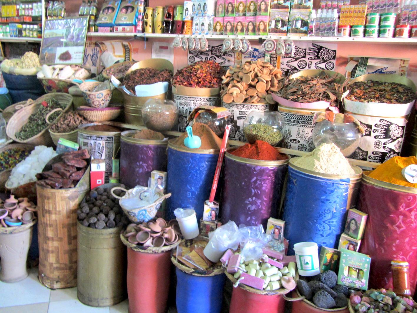Spice shop in Marrakech