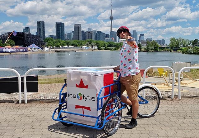 Check out the Ice Lyte bike at Digital Dreams this weekend! #goingmobile #digitaldreams #stayhydrated #edm #ontarioplace #echobeach #electrolytes #freezie