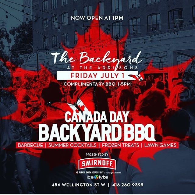 Who's ready for #CanadaDay?? Join us on the newly decked out backyard at the @theaddisonsto 🎉✌️💃😎 #freezie #stayhydrated #IceLyte #bbq #festivals #veld #digitaldreams