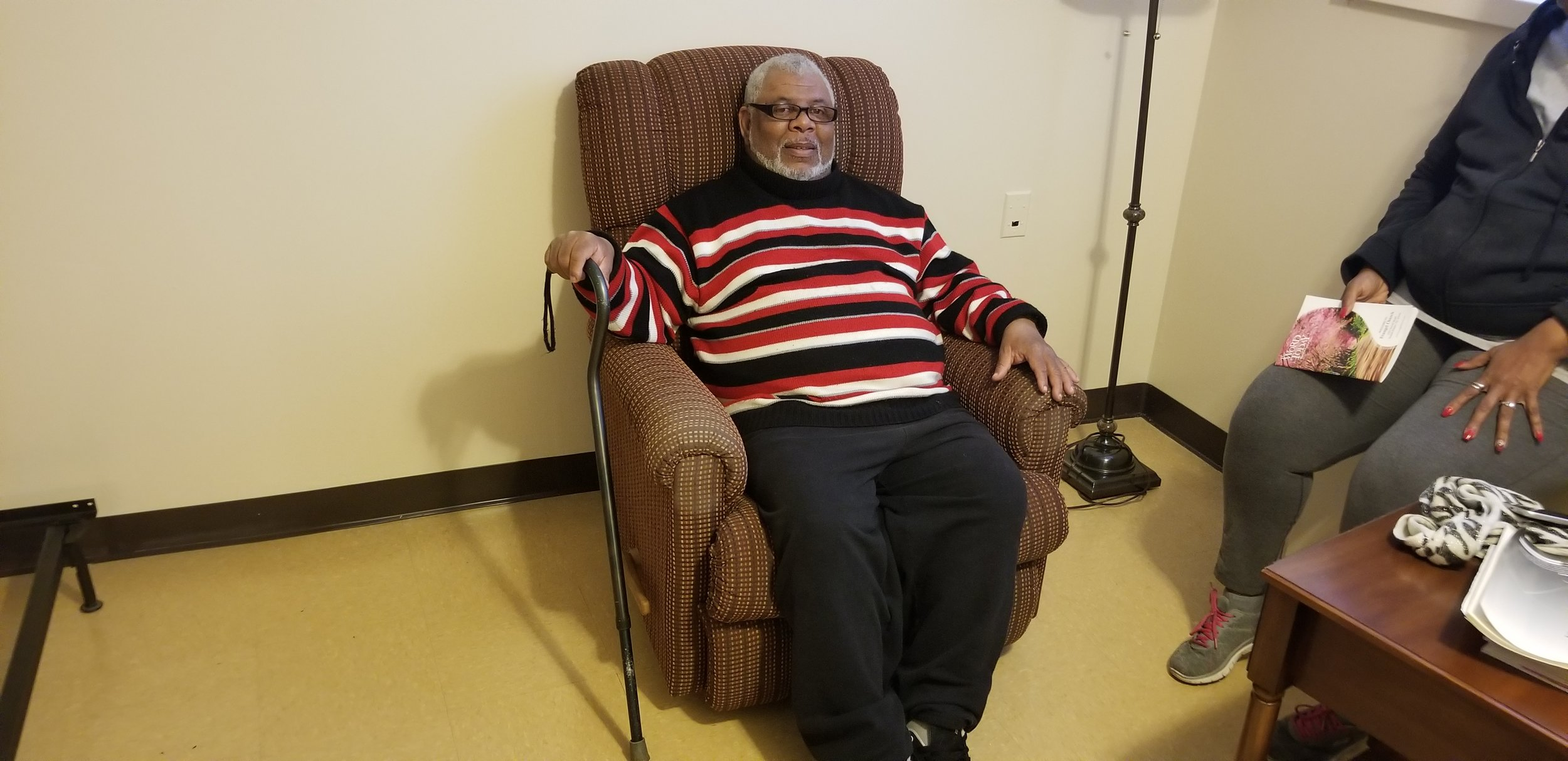 When I was in need of furniture for my new apartment, the Family Assistance Resource Center NJ (FARC) answered my call and completely furnished my apartment. They also gave me this recliner and a flat screen television. Thank You FARC!