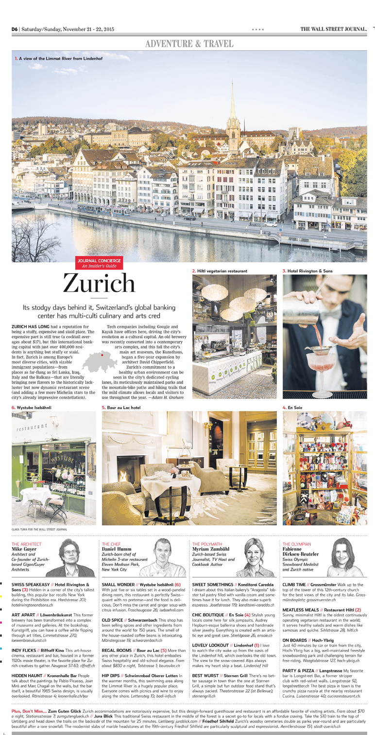 Travel Feature - The Wall Street Journal - Off Duty