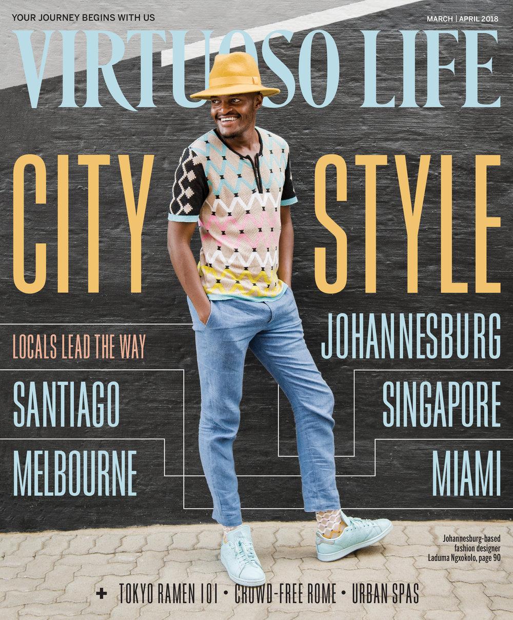 Cover shoot for Virtuoso Life magazine